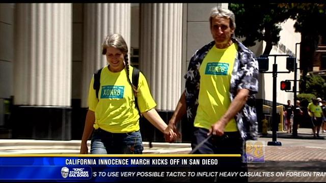 California Innocence March kicks off in San Diego