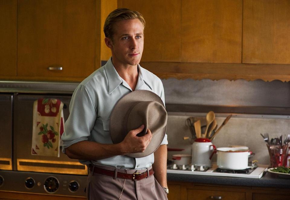 "This film image released by Warner Bros. Pictures shows Ryan Gosling, as Sgt. Jerry Wooters in ""Gangster Squad."" (AP Photo/Warner Bros. Pictures, Wilson Webb)"