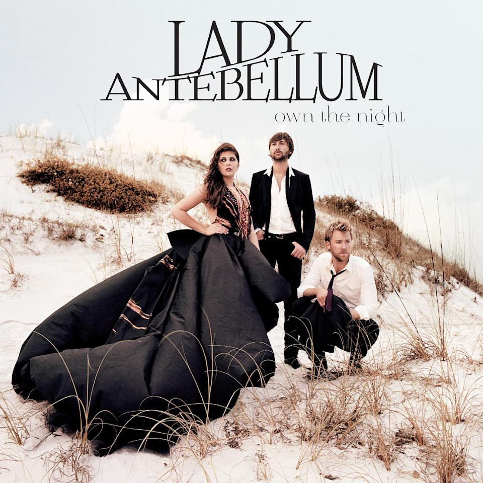 "In this CD cover image released by Capitol Records Nashville, the latest release by Lady Antebellum, ""Own the Night,"" is shown. (AP Photo/Capitol Records Nashville)"