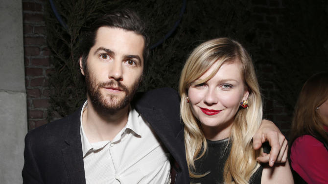 IMAGE DISTRIBUTED FOR MILLENNIUM ENTERTAINMENT - Jim Sturgess and Kirsten Dunst attend the after party for Millennium Entertainment's Upside Down Los Angeles Premiere hosted by Quintessentially at No Vacancy on Tuesday, March 12, 2013 in Los Angeles. (Photo by Todd Williamson/Invision for Millennium Entertainment/AP Images)