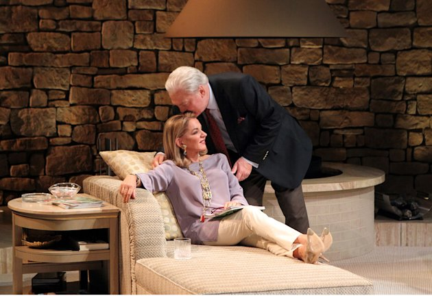 "In this undated theater publicity image released by Philip Rinaldi Publicity, Stockard Channing, left, and Stacy Keach are shown in a scene from ""Other Desert Cities,"" in New York. The Lincoln Center Theater has announced that Stockard Channing, Rachel Griffiths, Stacy Keach, Judith Light and Thomas Sadoski will star in its Broadway production of ""Other Desert Cities"" this fall. The production begins performances Wednesday evening, Oct. 12 and opens on Nov. 3 at the Booth Theater in New York. (AP Photo/Philip Rinaldi Publicity, Joan Marcus)"