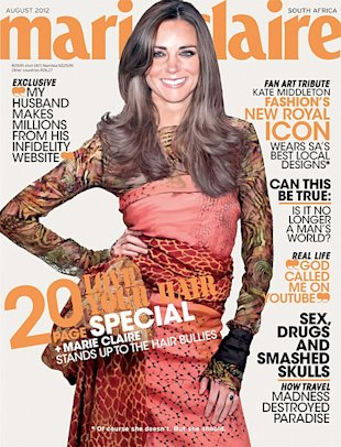 Kate Middleton Photoshopped on to The Cover of Marie Claire South Africa: Art Or Outrage?