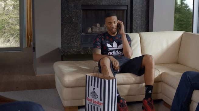 Portland Trail Blazers PG Damian Lillard Stars in Foot Locker Commerical.