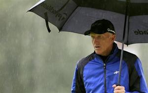 Norman of Australia walks on the 15th green during the European Masters golf tournament in Crans-Montana
