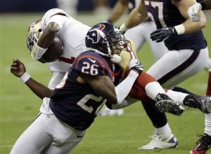 Schaub, Holliday lead Texans over 49ers