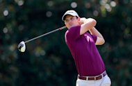 Justin Rose of England watches his tee shot on the eighth hole during the second round of the Tour Championship by Coca-Cola, at East Lake Golf Club, on September 21, in Atlanta, Georgia. After the round, Jim Furyk is leading by one stroke over Rose, with Bubba Watson and Bo Van Pelt two off the pace