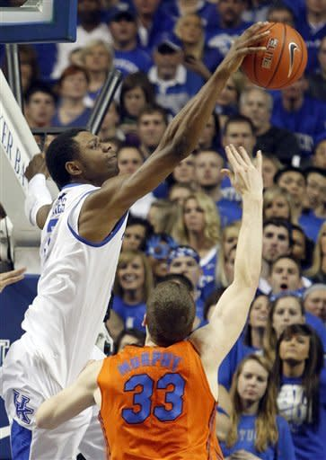 No. 1 Kentucky tops No. 8 Florida 78-58
