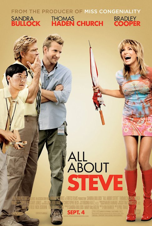 All About Steve Movie Stills 2009 Thomas Haden Church Sandra Bullock Bradley Cooper Poster