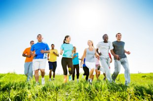 Joining a running group will help keep you motivated.