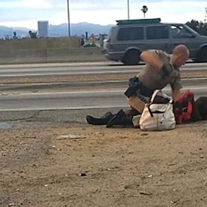 Woman in California highway beating traumatized by video of incident