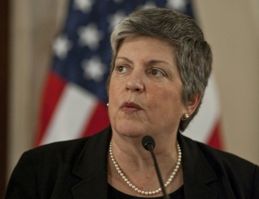 <p>File picture shows US Department of Homeland Security Secretary Janet Napolitano earlier this year. Canada and the United States announced they were launching a joint cybsersecurity plan to protect their digital infrastructure from online threats.</p>