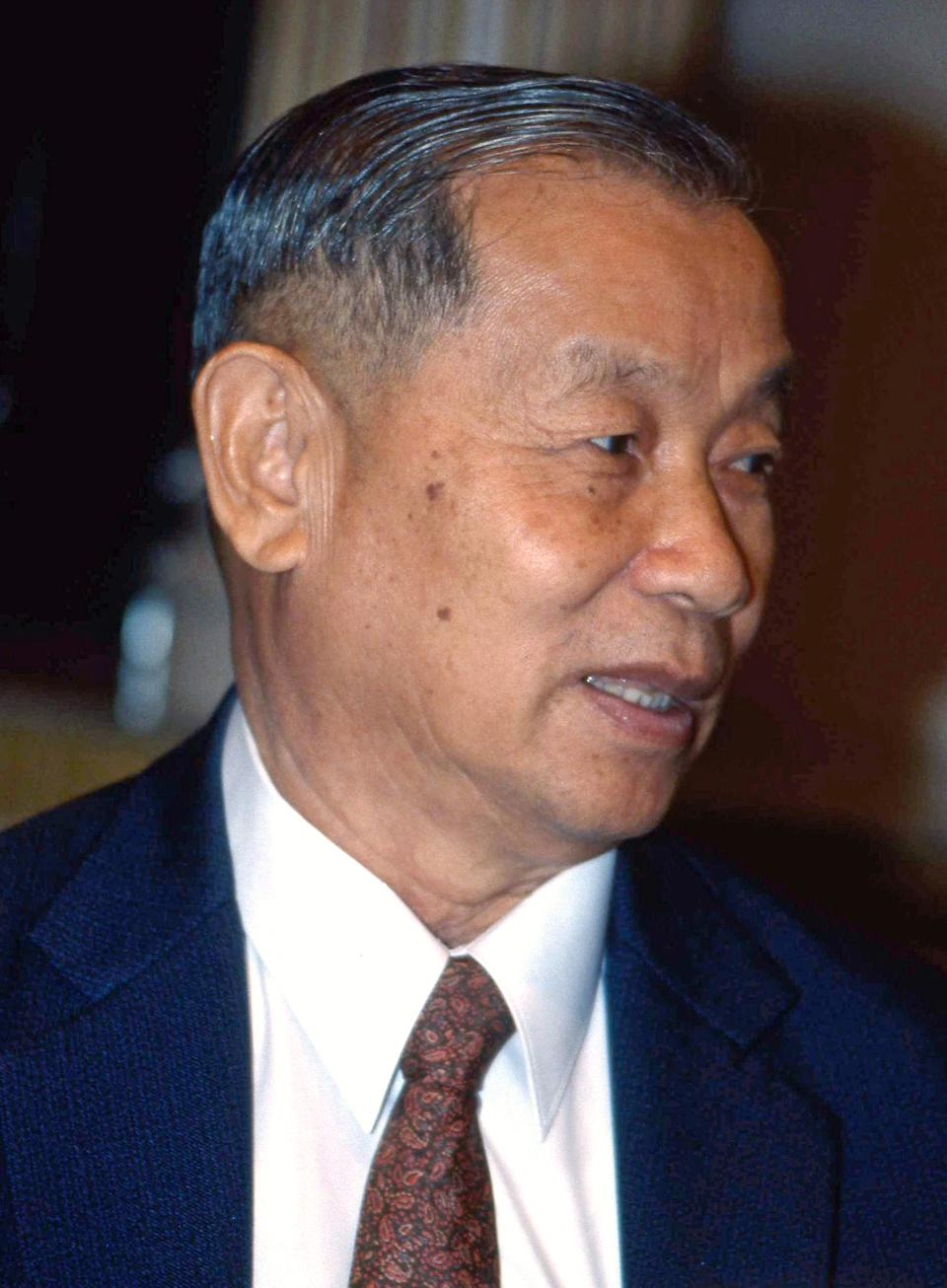 In this undated photo, Thai billionaire Chaleo Yoovidhya is shown. Chaleo, who created the renowned Red Bull energy drink three decades ago, died of natural causes at the age of 89 on Saturday, March 17, 2012, Thai state media said. (AP Photo/Matichon Newspaper) THAILAND OUT