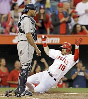Cowgill homers, steals home as Angels beat Seattle
