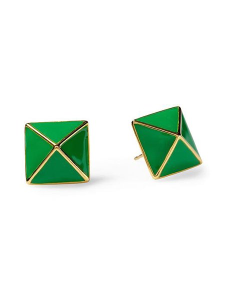 &quot;Locked In&quot; stud earring by Kate Spade New York, $48, piperlime.com