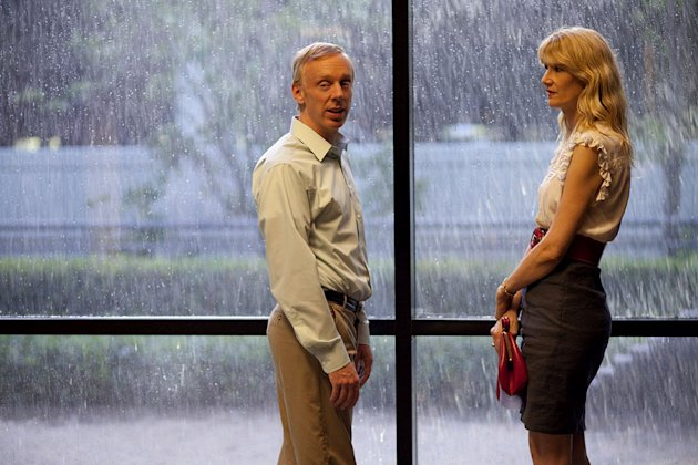 "Mike White as Tyler and Laura Dern as Amy in ""Enlightened."""