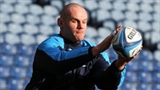 Geoff Cross, pictured, takes tighthead prop Euan Murray's place for Scotland against Ireland