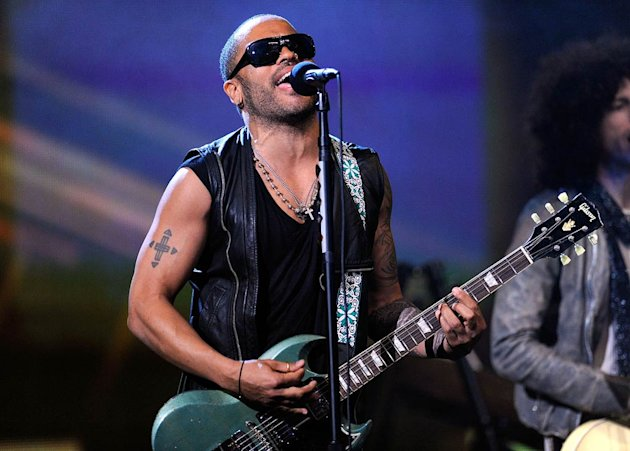 Lenny Kravitz NBA All Star Game