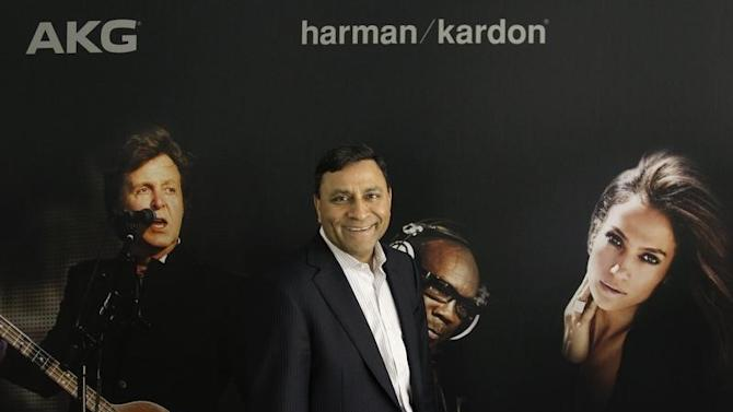 CEO of Harman International Industries Paliwal poses during Reuters interview during opening day of IFA consumer electronics fair in Berlin