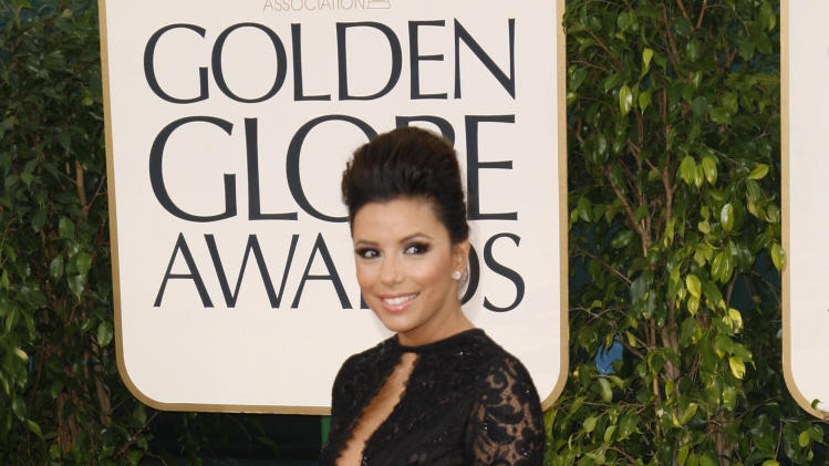"Actress Eva Longoria of the TV series ""Desperate Housewives"" at the 70th annual Golden Globe Awards in Beverly Hills"