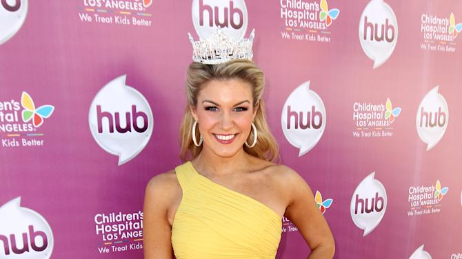 "IMAGE DISTRIBUTED FOR THE HUB - Miss America 2013 Mallory Hagan attends The Hub TV Network's ""My Little Pony Friendship is Magic"" Coronation Concert at the Brentwood Theatre on Saturday, Feb. 9, 2013, in Los Angeles in support of Children's Hospital LA. (Photo by Matt Sayles/Invision for The Hub/AP Images)"