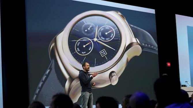 David Singleton, Director of Android Wear, speaks during the Google I/O developers conference in San Francisco