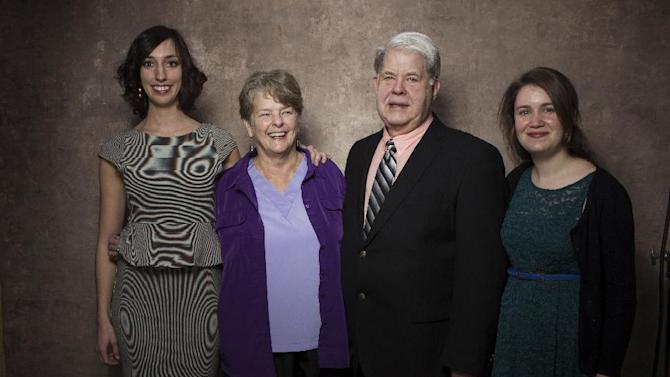 "From left, filmmaker Lana Wilson, Dr. Susan Robinson, Dr. LeRoy Carhart, and filmmaker Martha Shane from the documentary ""After Tiller"" pose for a portrait during the 2013 Sundance Film Festival at the Fender Music Lodge, on Friday, Jan. 18, 2013 in Park City, Utah. (Photo by Victoria Will/Invision/AP Images)"