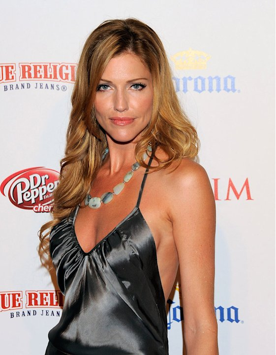 Tricia Helfer arrives at the Maxim's 10th Annual Hot 100 Celebration at The Barker Hangar on May 13, 2009 in Santa Monica, California.