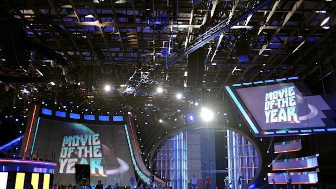 A general view of the stage during the MTV Movie Awards Press Day at Sony Studios on Thursday, April 11, 2013, in Culver City, Calif. (Photo by John Shearer/Invision for MTV Networks/AP Images)