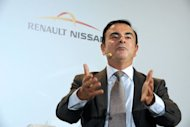 Renault-Nissan CEO Carlos Ghosn, pictured in September 2012. Shares in French automaker Renault posted strong gains in afternoon trading on Monday after the company said it expected substantial additional savings via its alliance with the Japanese firm Nissan