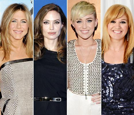 Who Had the Best Engagement Ring of 2012: Jennifer Aniston, Angelina Jolie, Miley Cyrus or Kelly Clarkson?