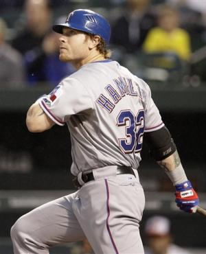 Hamilton hits 4 HRs as Rangers beat Orioles 10-3