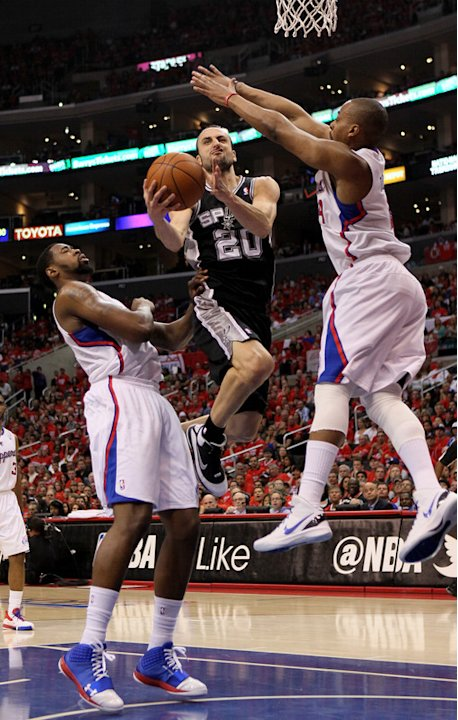 Manu Ginobili #20 Of The San Antonio Spurs Shoots Getty Images
