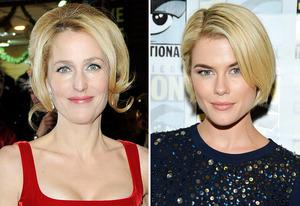 Gillian Anderson and Rachael Taylor | Photo Credits: Dave M. Benett/WireImage, Frazer Harrison/Getty Images