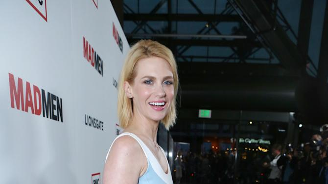 January Jones at the AMC Season 6 Premiere of Mad Men , on Wednesday, March, 20, 2013 in Los Angeles. (Photo by Alexandra Wyman/Invision for AMC/AP Images)