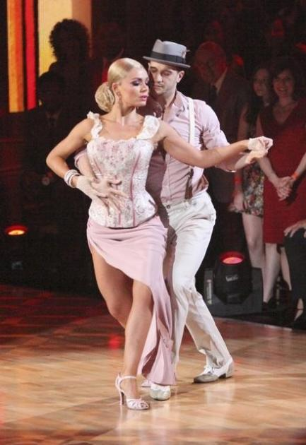 Mark Ballas and Katherine Jenkins during Latin week on 'Dancing,' April 16, 2012 -- ABC