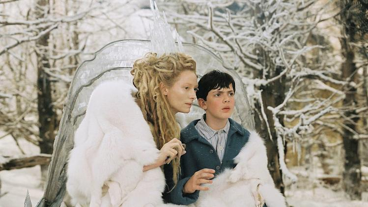 The Chronicles of Narnia the Lion the Witch and the wardrobe Walt Disney Pictures 2005 Tilda Swinton Skandar Keynes