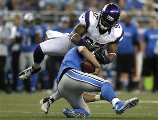 Vikings return KO, punt for TDs, top Lions 20-13