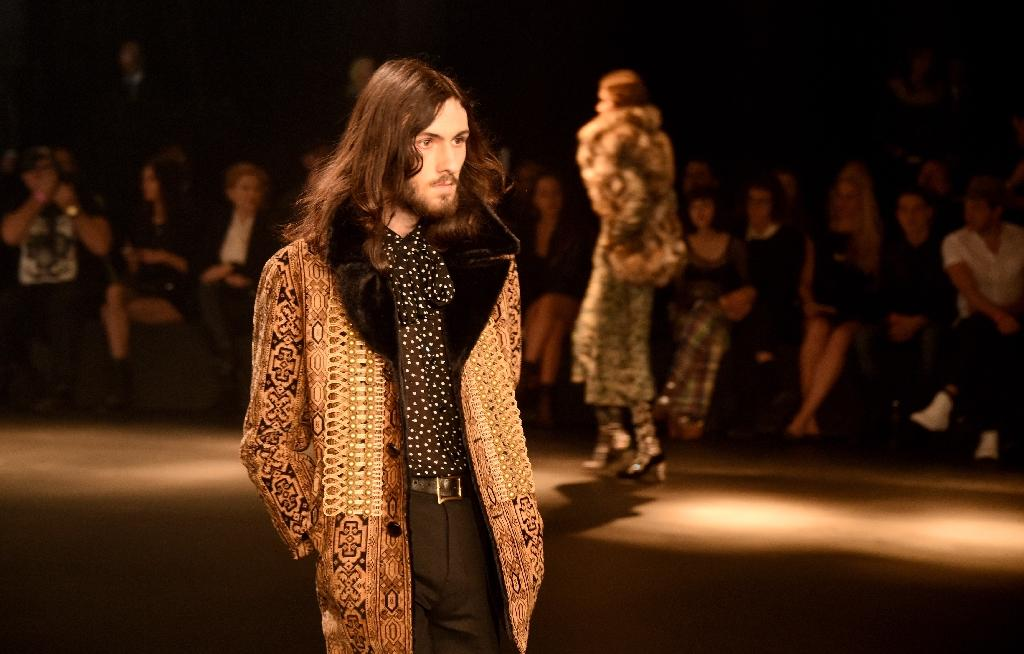 Saint Laurent debuts new collection in glittering LA show