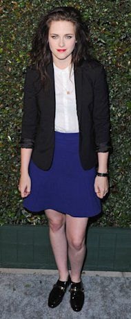 Kristen Stewart does preppy-chic at Paul McCartney's My Valentine premiere