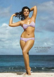 Plus-size model Crystal Renn in the May 2009 Glamour