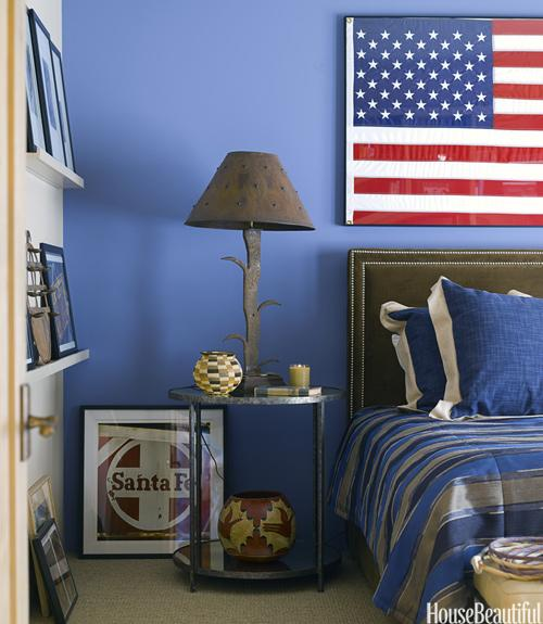 An All-American Bedroom