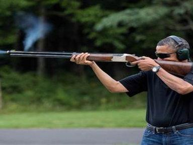 White House Releases Photo of Obama Skeet Shooting
