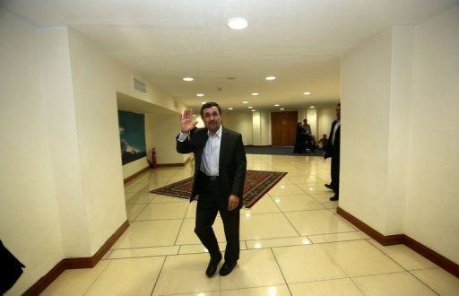 "Iran has ""problems"" exporting its oil, President Mahmoud Ahmadinejad, pictured in August 2012, admitted, but he said his government was determined to overcome that and other challenges posed by Western economic sanctions"