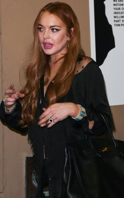 Lindsay Lohan attends the Will.i.am album wrap party at Avalon, Hollywood, on August 13, 2012 -- Getty Premium
