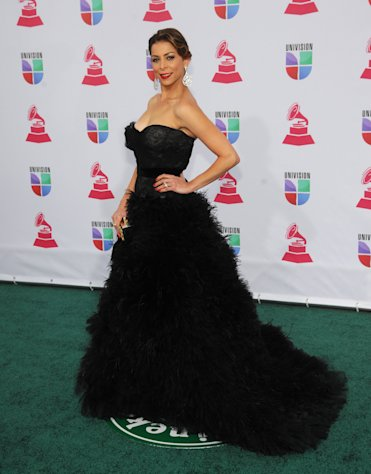 Lourdes Stephen arrives at the 13th Annual Latin Grammy Awards at Mandalay Bay on Thursday, Nov. 15, 2012, in Las Vegas. (Photo by Brenton Ho/Powers Imagery/Invision/AP)