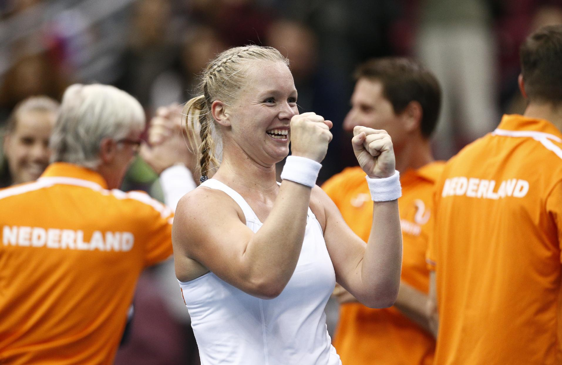 Bertens gives Dutch a surprise win over Russia in Fed Cup
