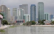 A general view of Manila's financial district on June 3. The Philippines said Saturday it had avoided an international blacklist on money laundering and terrorist financing after passing two new laws this month