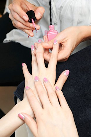 Chanel debuts shimmery nails. We can't wait to try!