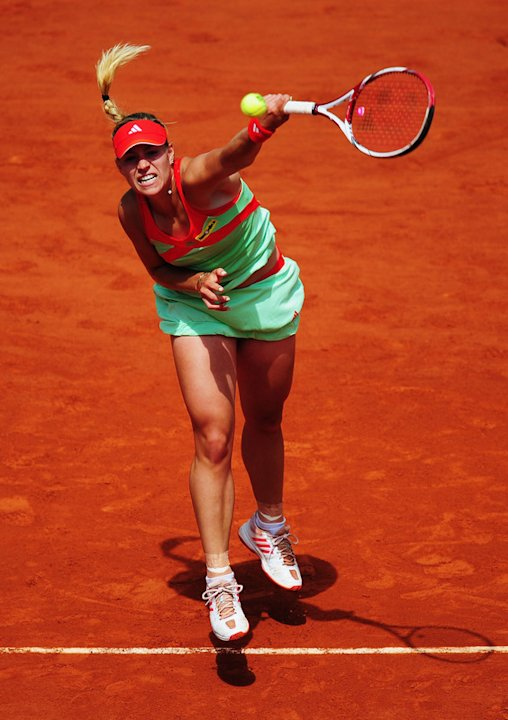   Angelique Kerber Of Germany Serves Getty Images