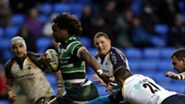 Marland Yarde scored a hat-trick of tries in the victory over Worcester